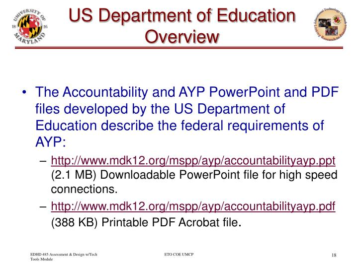 US Department of Education Overview