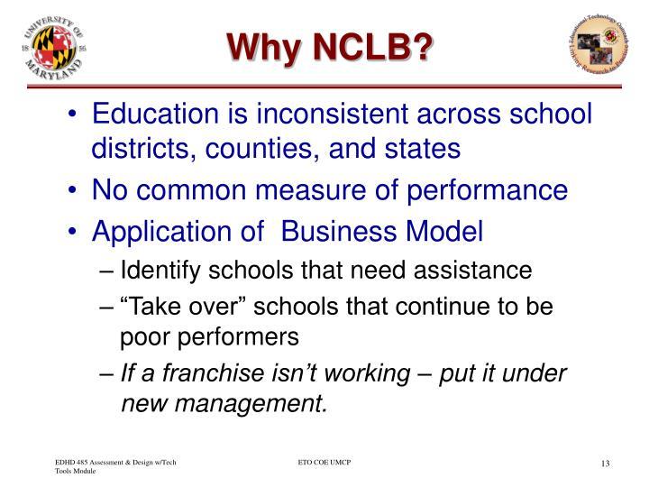 Why NCLB?
