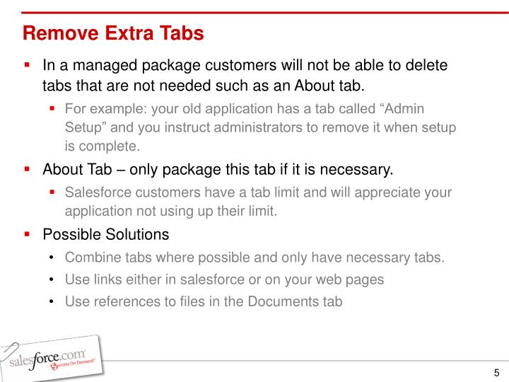 Remove Extra Tabs