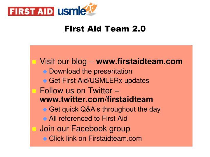 First Aid Team 2.0