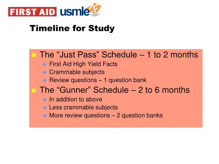 Timeline for Study