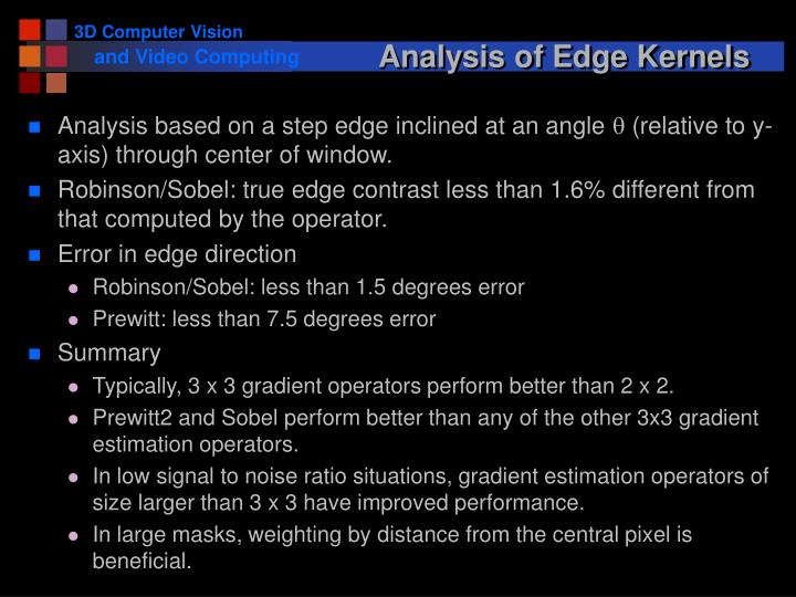 Analysis of Edge Kernels