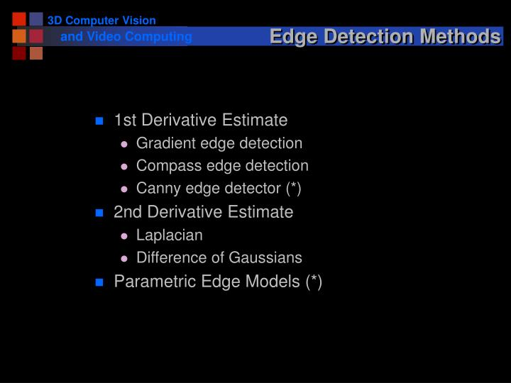 Edge Detection Methods