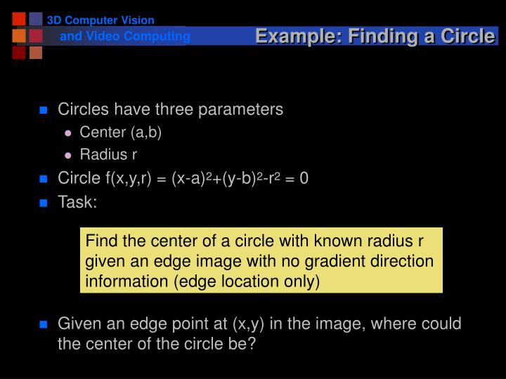 Example: Finding a Circle