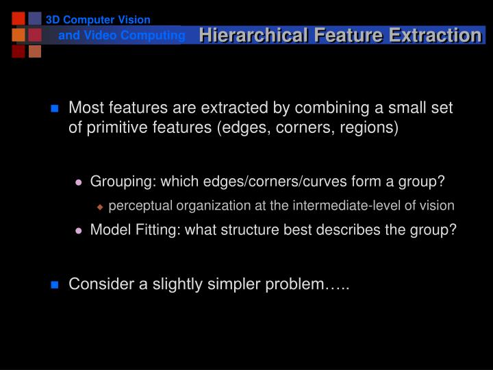 Hierarchical Feature Extraction