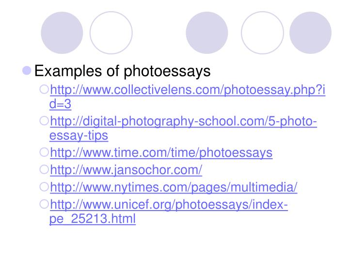Examples of photoessays