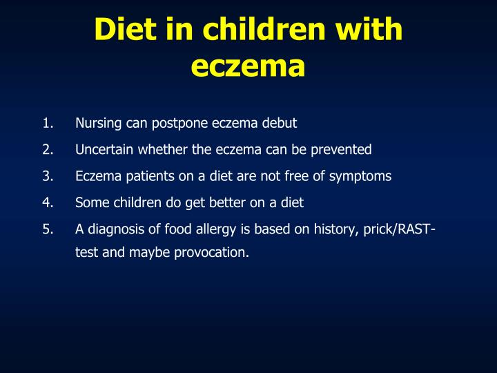 Diet in children with eczema