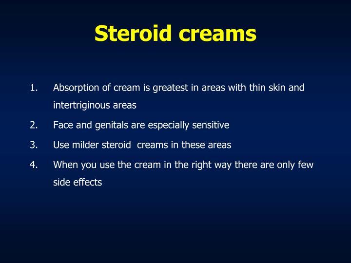 Steroid creams