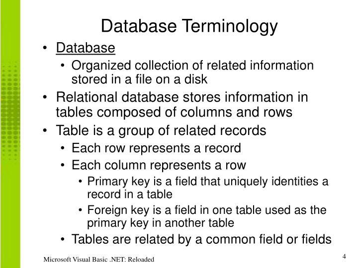 Database Terminology