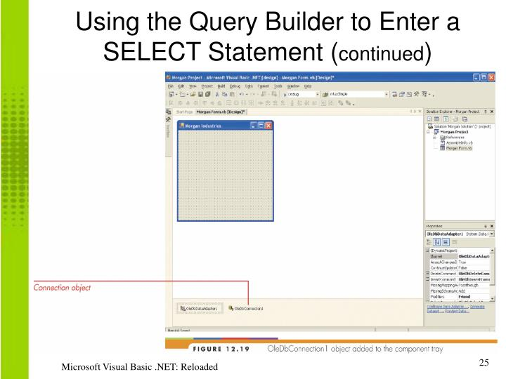 Using the Query Builder to Enter a SELECT Statement (