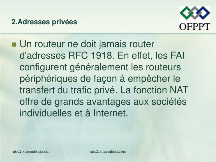 2.Adresses privées