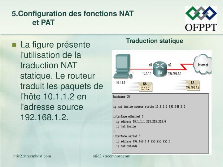 5.Configuration des fonctions NAT