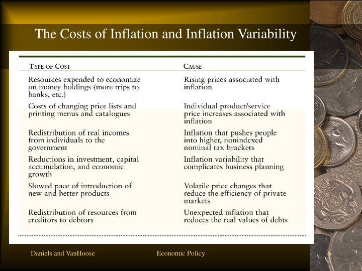 The Costs of Inflation and Inflation Variability