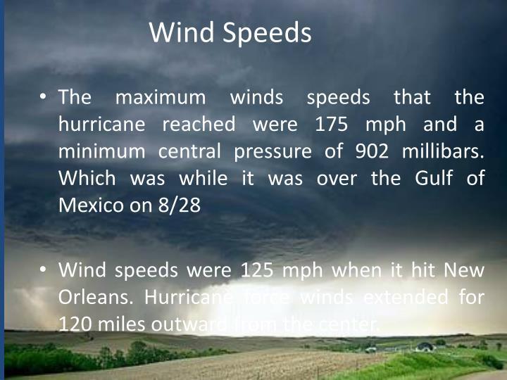 Wind Speeds
