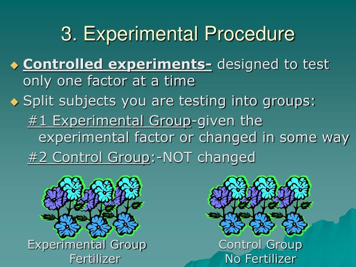 3. Experimental