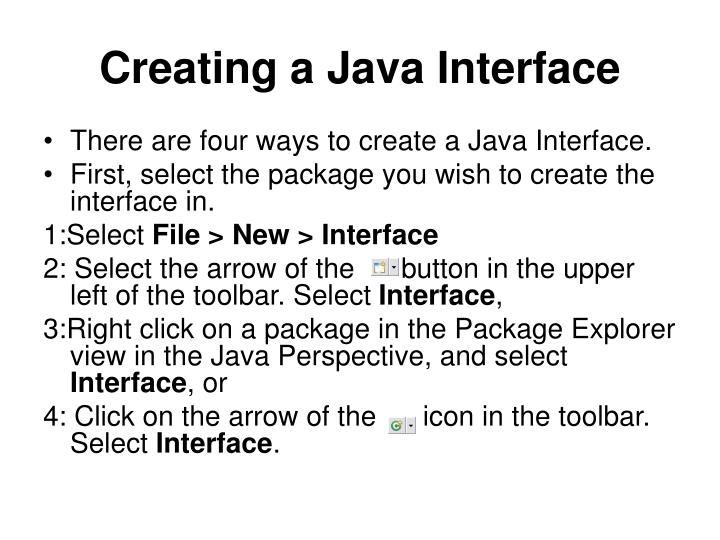Creating a Java Interface