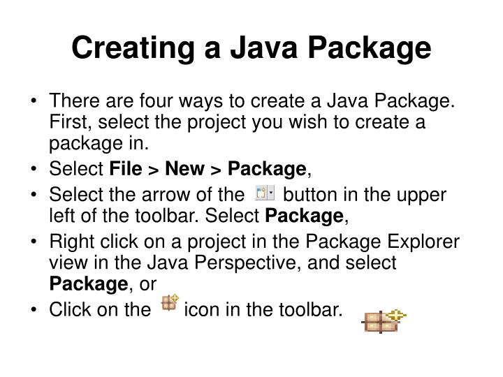 Creating a Java Package