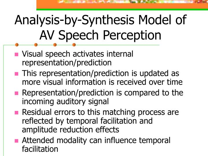 Analysis-by-Synthesis Model of AV Speech Perception