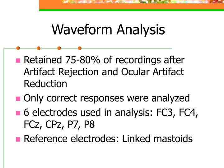 Waveform Analysis