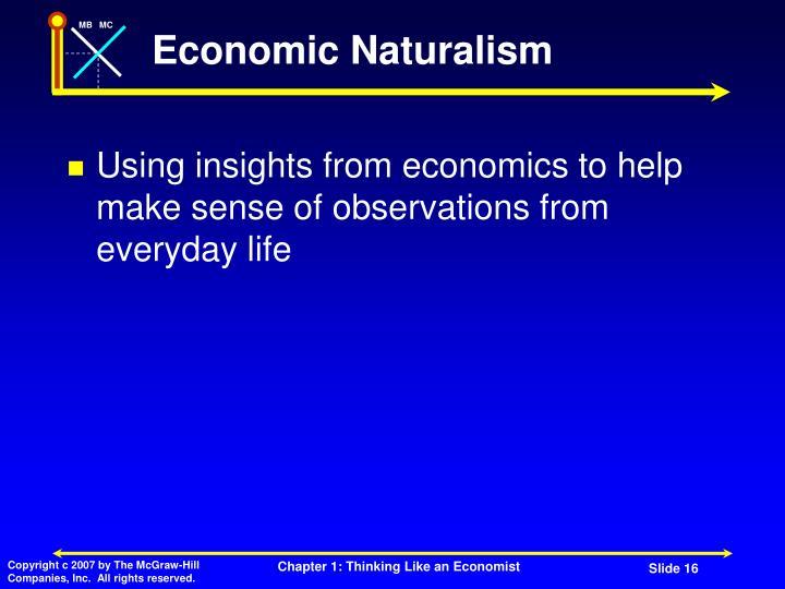 Economic Naturalism