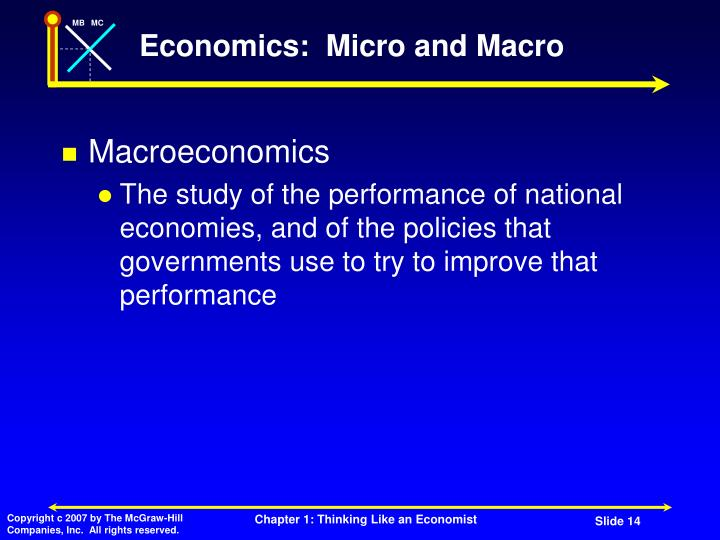 Economics:  Micro and Macro