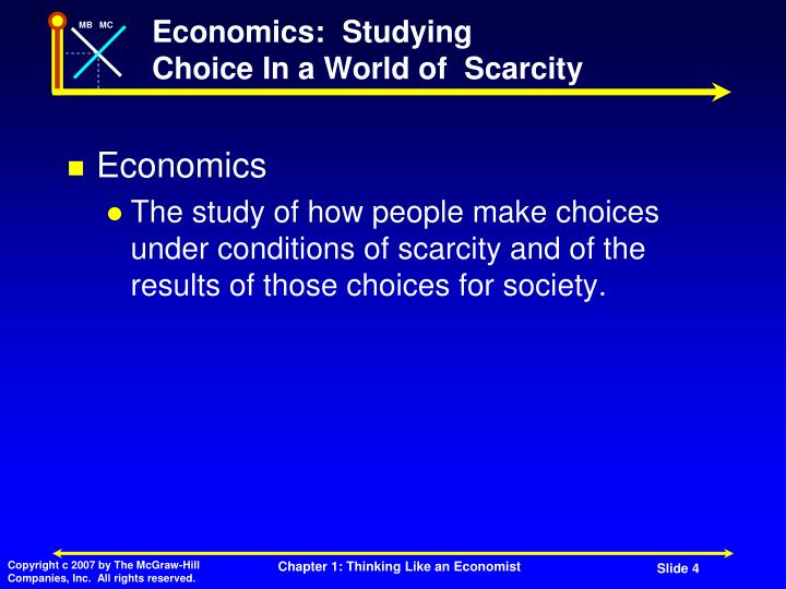 Economics:  Studying