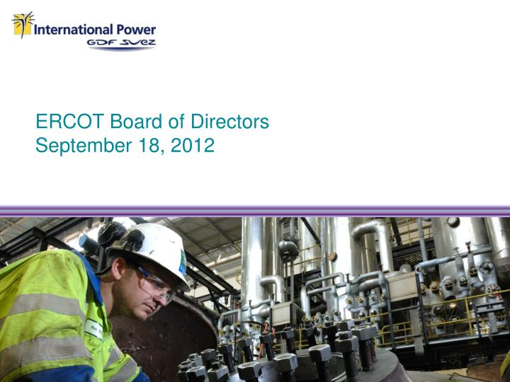 Ercot board of directors september 18 2012