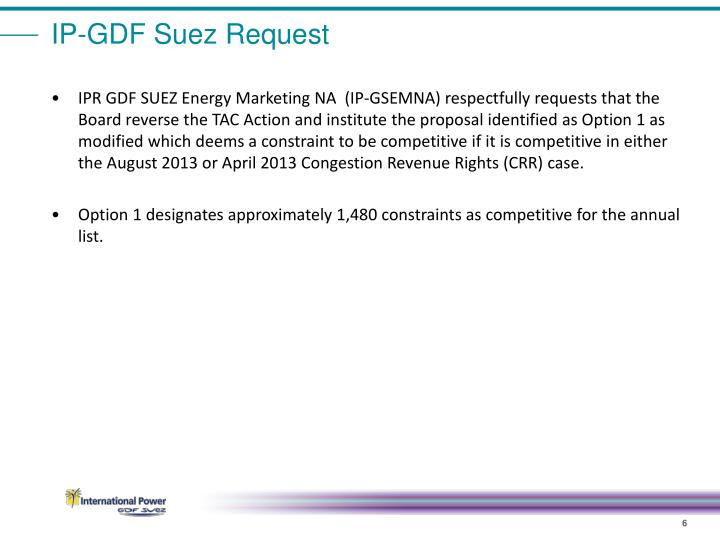 IP-GDF Suez Request