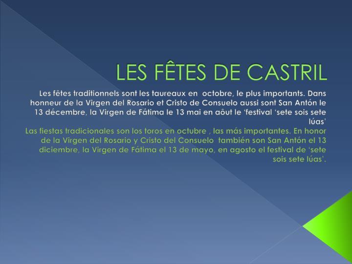 LES FÊTES DE CASTRIL