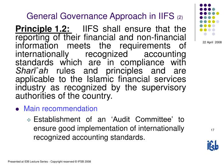 General Governance Approach in IIFS