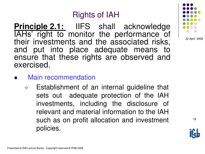 Rights of IAH