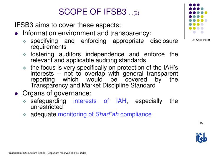 SCOPE OF IFSB3