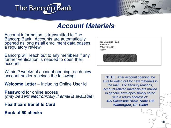 Account Materials