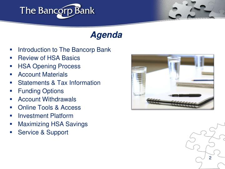 Introduction to The Bancorp Bank