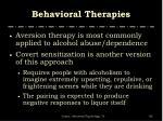behavioral therapies1
