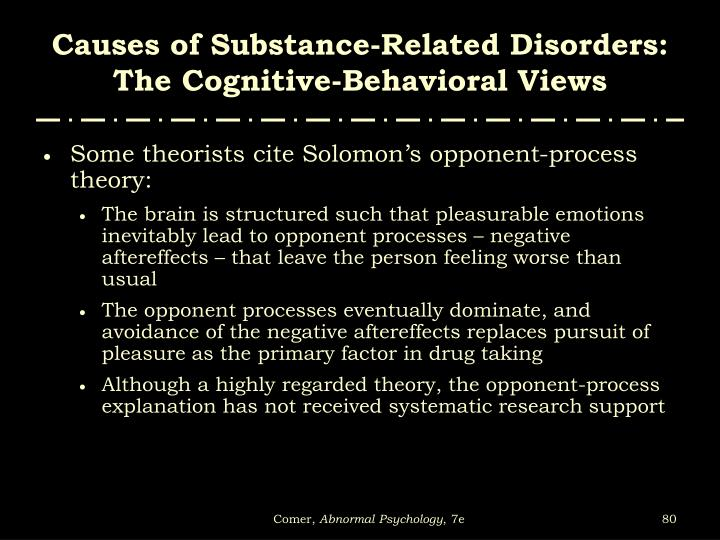 Causes of Substance-Related Disorders: The Cognitive-Behavioral Views
