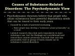 causes of substance related disorders the psychodynamic view