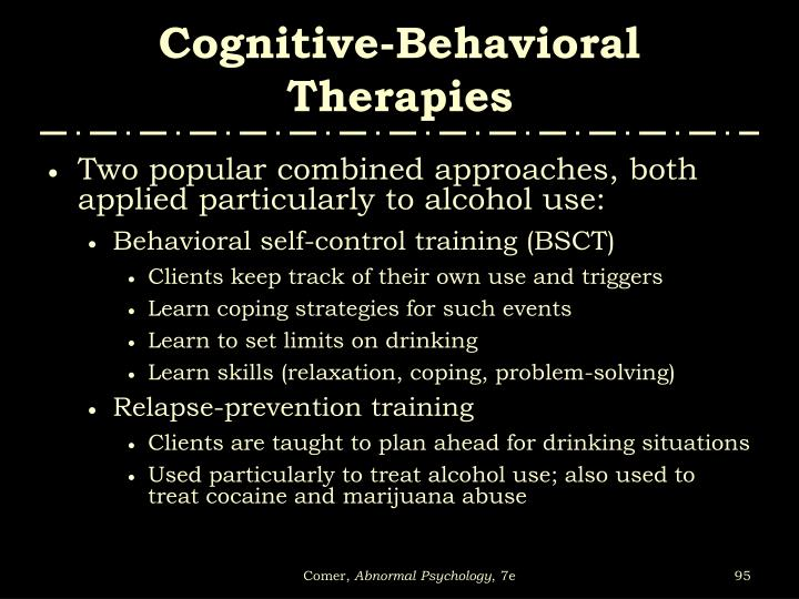 Cognitive-Behavioral Therapies