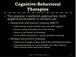 cognitive behavioral therapies