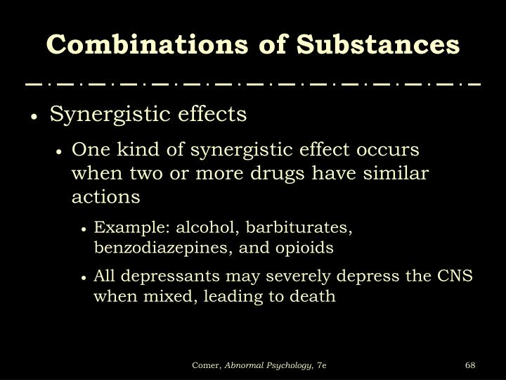 Combinations of Substances