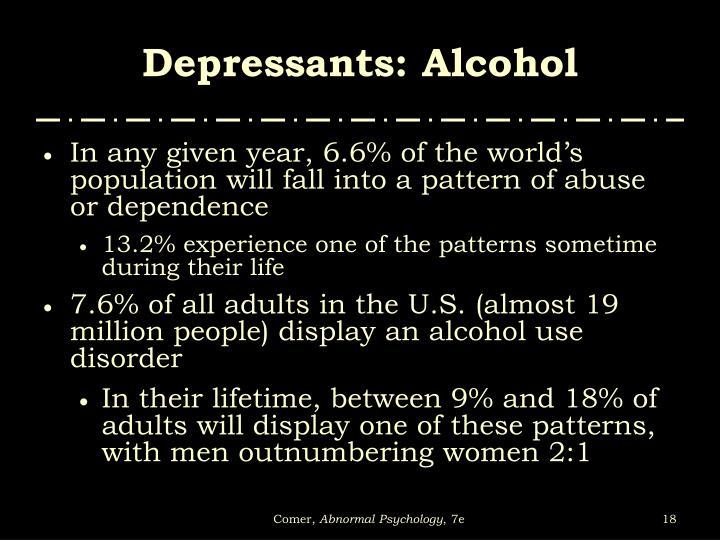 Depressants: Alcohol