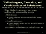 hallucinogens cannabis and combinations of substances