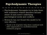 psychodynamic therapies
