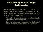 sedative hypnotic drugs barbiturates