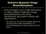 sedative hypnotic drugs benzodiazepines2