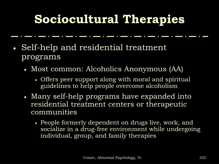 Sociocultural Therapies