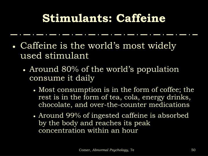 Stimulants: Caffeine