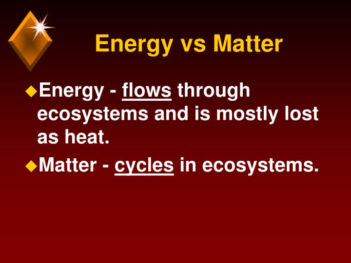 Energy vs Matter