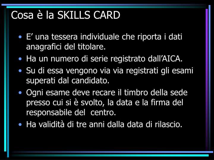 Cosa è la SKILLS CARD