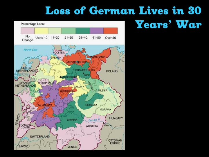 Loss of German Lives in 30 Years' War